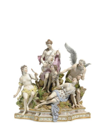A MEISSEN FIGURE GROUP, 'THE P