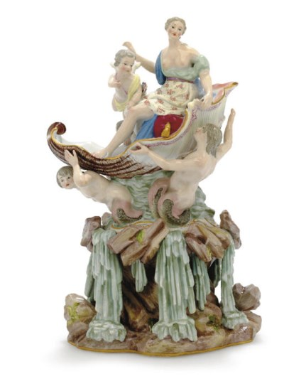 A MEISSEN FIGURE OF THE TRIUMP
