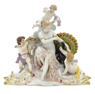 A MEISSEN FIGURE GROUP OF THE
