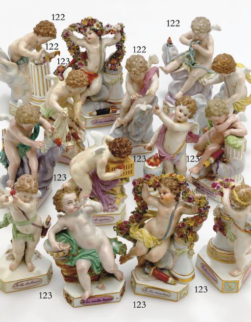 TEN MEISSEN MODELS OF DEVISENK