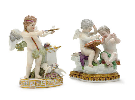TWO MEISSEN FIGURE GROUPS OF P