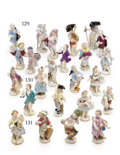 TEN MEISSEN FIGURES OF PUTTI I