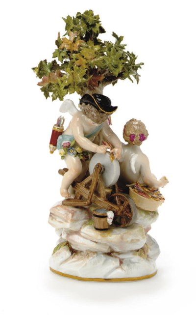 A MEISSEN GROUP EMBLEMATIC OF