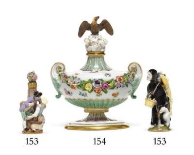TWO MEISSEN SCENT-BOTTLES