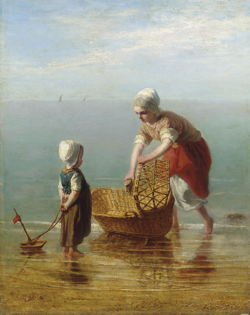 Mother and Child by the Sea