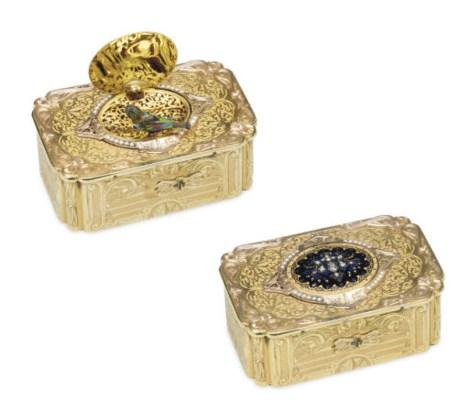 A FINE SWISS TWO-COLOR GOLD, E