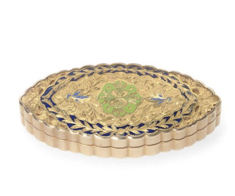 A CONTINENTAL GOLD AND ENAMEL