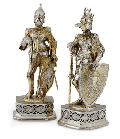 A PAIR OF GERMAN SILVER AND IV