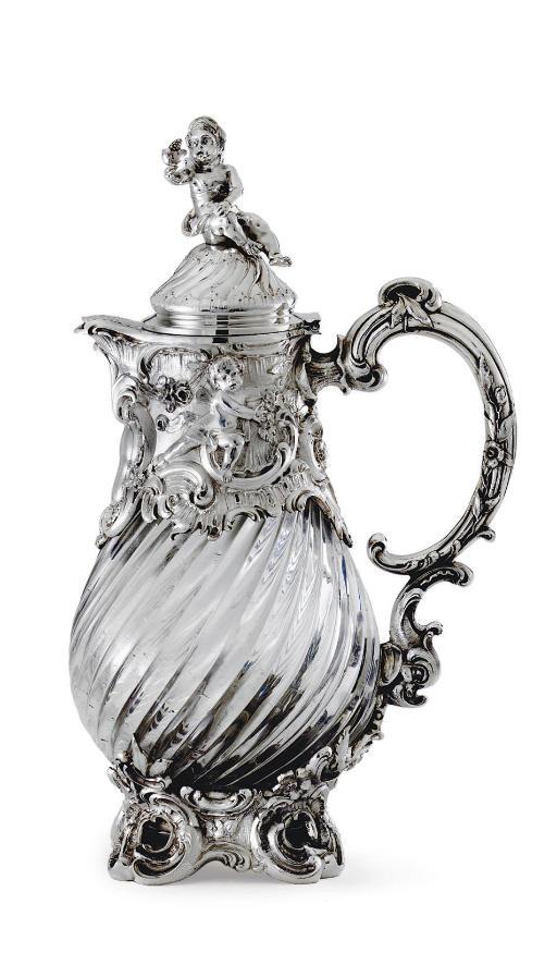 A DUTCH SILVER-MOUNTED GLASS J