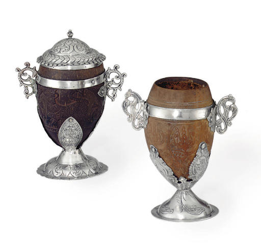 TWO SPANISH COLONIAL SILVER-MO