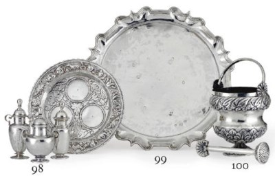 TWO MEXICAN SILVER SALVERS AND