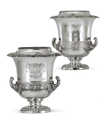 A PAIR OF GEORGE IV SILVER WIN