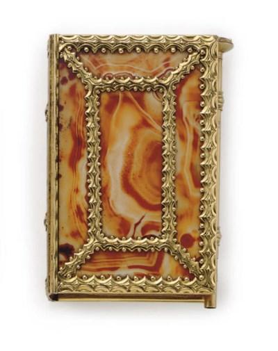 A GEORGE II GOLD-MOUNTED GLASS