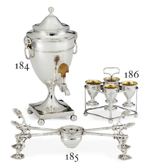 A GEORGE III SILVER COFFEE URN
