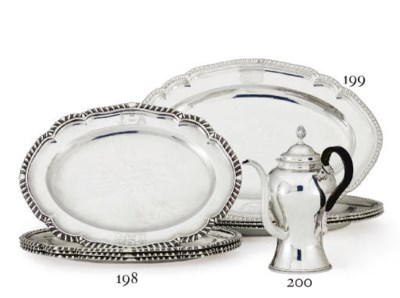 A SET OF FOUR GEORGE II SILVER