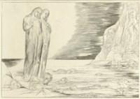 The Circle of the Traitors: Dante's Foot Striking Bocca degli Abbate, from Dante's Divine Comedy (B. 133, Bi. 653)