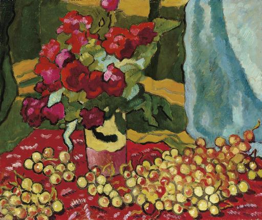 Roses rouges aux cerises
