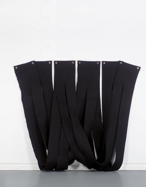 Black Felt Piece