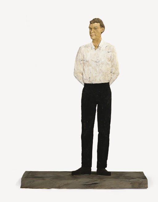 Tall Man With White Shirt and Black Pants