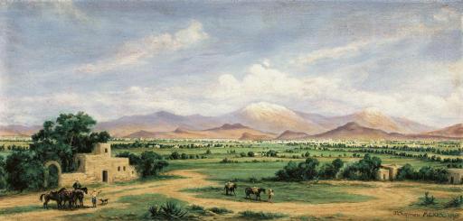 Valle de México from the Hacienda Morales