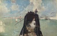 Woman in a Gondola with San Giorgio Maggiore in the Background (In the Gondola)