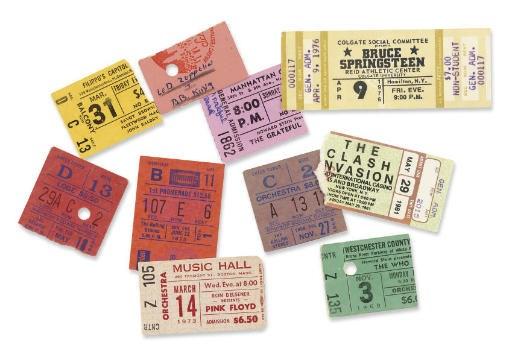 Rock Ticket Stubs