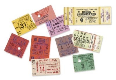 Rock Ticket Stubs