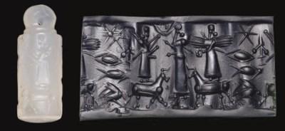 A NEO-ASSYRIAN CHALCEDONY STAM