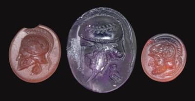 THREE ROMAN RING STONES