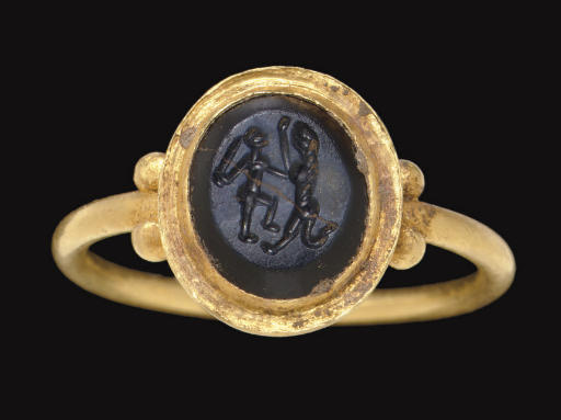 A BYZANTINE GOLD AND SASANIAN