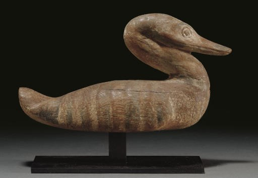 AN EGYPTIAN WOOD WATER FOWL