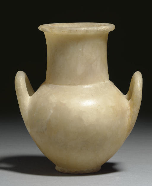 AN EGYPTIAN ALABASTER HIGH-NEC