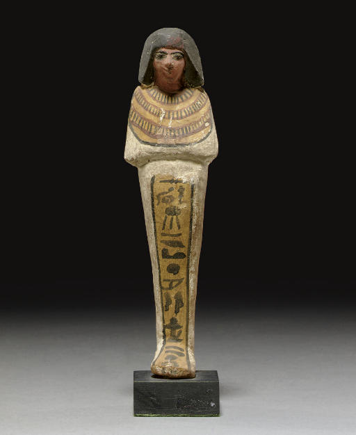 AN EGYPTIAN PAINTED WOOD SHABT