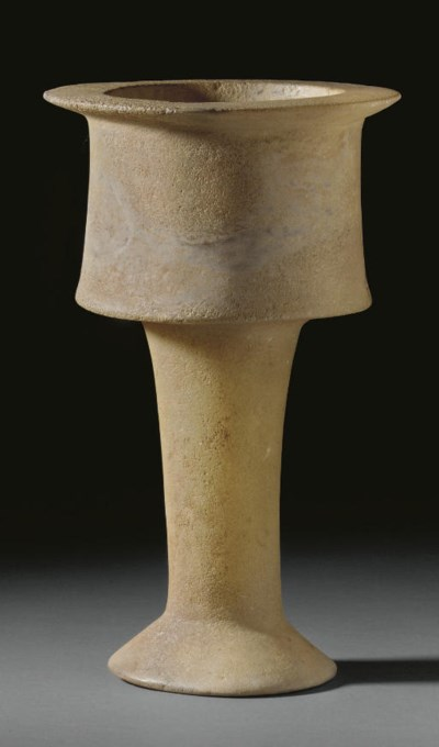 A BACTRIAN ALABASTER CHALICE