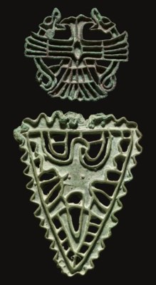 TWO BACTRIAN BRONZE STAMP SEAL