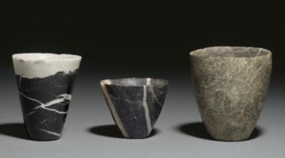 THREE MESOPOTAMIAN STONE VESSE