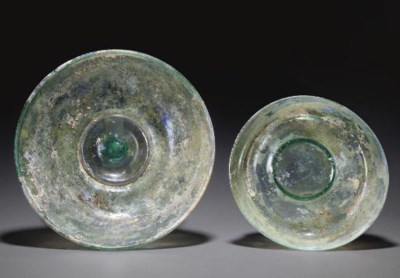 TWO ROMAN GLASS BOWLS