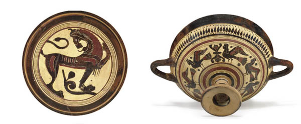 A LACONIAN BLACK-FIGURED KYLIX