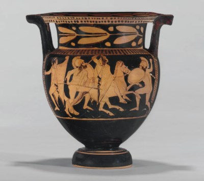 An Attic Red Figured Column Krater Attributed To The