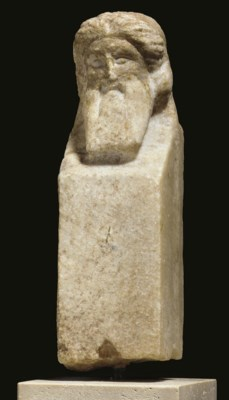 A ROMAN MARBLE HERM