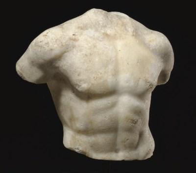 A ROMAN MARBLE TORSO OF AN ATH