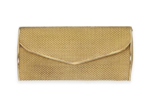 A GOLD EVENING BAG, BY HERMES