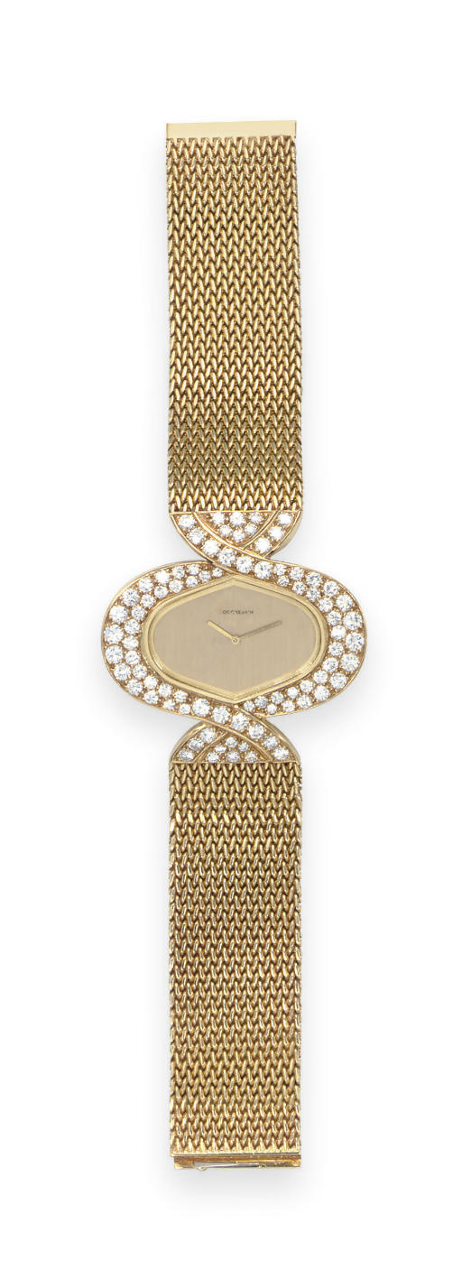 A GOLD AND DIAMOND WRISTWATCH, BY BOUCHERON