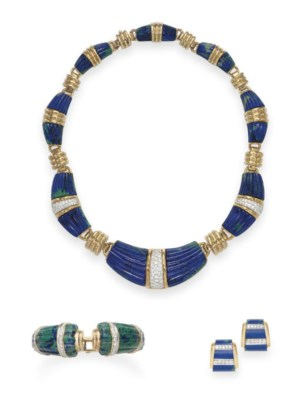 A SUITE OF AZURMALACHITE AND D