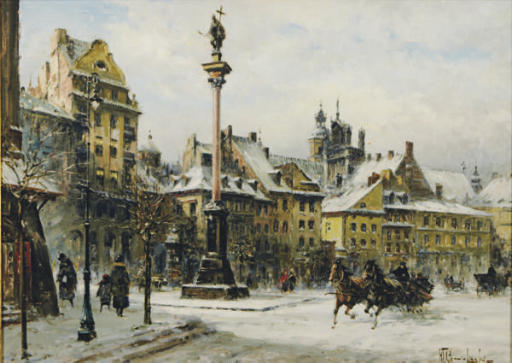 Sleigh ride through the streets of Warsaw