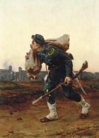 Soldier on a battlefield