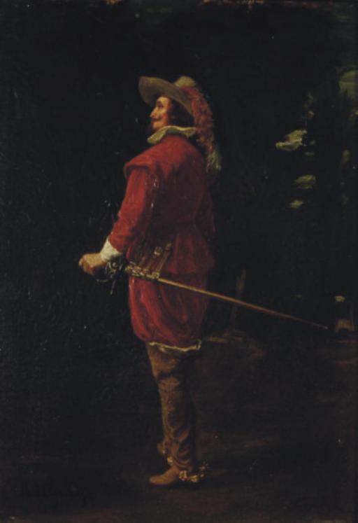 A standing cavalier