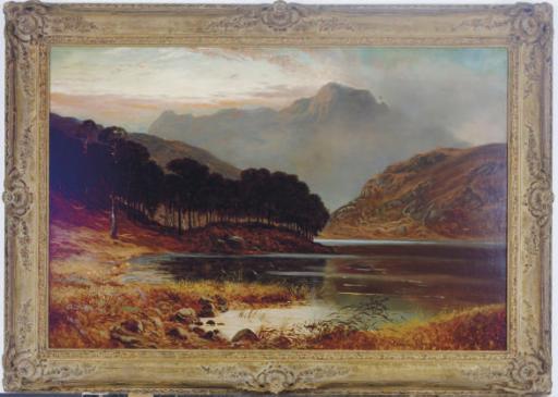 Highland landscape at dusk