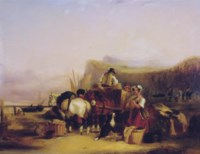 Loading the catch on the beach