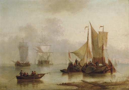 Sailing off the Dutch coast; and a companion painting